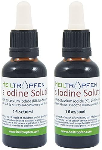 2x Soluzione di iodio Lugol 30ml 5% | Formulazione liquida al 15% | Realizzato con il 5 por cento di iodio e il 10% ioduro di potassio | Heiltropfen®