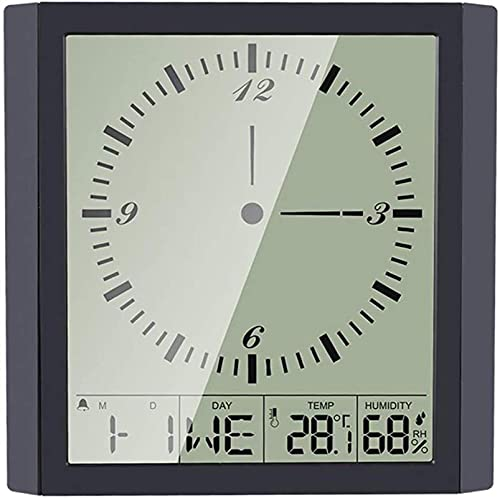 Orologio da Parete, Orologio da Tavolo Digitale da Parete Ampio Display Calendario Data Temperatura Interna Sveglia Digitale a Batteria per Cucina