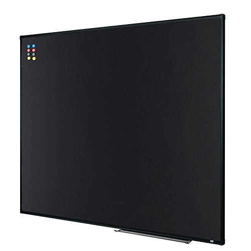 Lockways Magnetic Chalkboard Black Board, Bulletin Blackboard 48 x 36 Inch, Black Aluminium Frame
