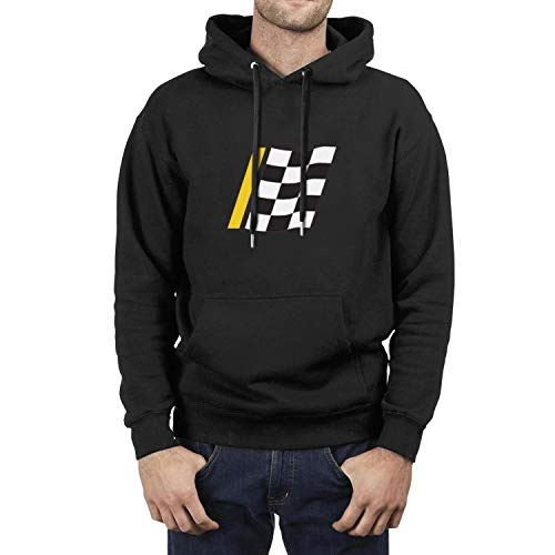 Mens Black Long Sleeve Double-Lined Hood Sweatshirts Advance-Auto-Parts- Hip Hop Graphic Kangaroo Pocket Fleece Pullover Hoodie