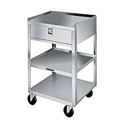 Heavy Duty Stainless steel Utility Cart with Wheels-Lakeside 356 Stainless Steel Mobile Equipment Stand