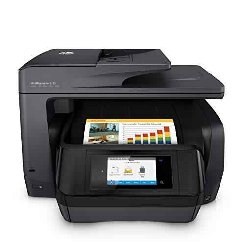 HP OfficeJet Pro 8725 Multifunktionsdrucker (A4, Drucker, Scanner, Kopierer, Fax, HP Instant Ink ready, WLAN, LAN, NFC, Duplex, HP ePrint, Airprint, Cloud Print, USB, 4800 x 1200 dpi) schwarz