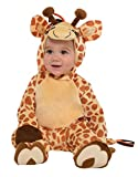 amscan 9902077 Kinderkostüm Junior Giraffe, Mehrfarbig, 6-12 Monate