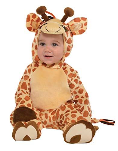 amscan 9902078 Kinderkostüm Junior Giraffe, Mehrfarbig, 12-24 Monate