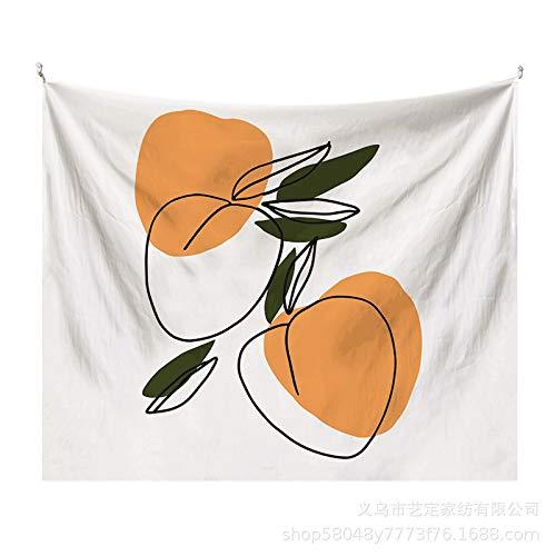 CNYG Tapiz de Hoja Simple Morandi Fondo literario Tela Decoración de Pared Tela de decoración artística Morandia-19 1x0.7M(Modelos cepillados
