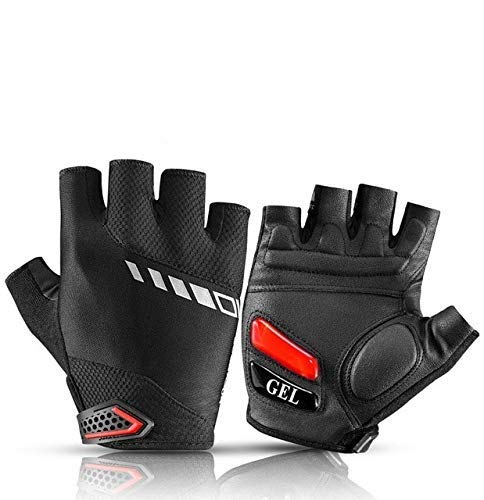 Bicycle Gloves Mountain Bike Road Gloves Mountain Bike Half Finger Gloves Men's Summer Bicycle Gym Fitness Non-Slip Sports Gloves - S143,L,A4n Federation