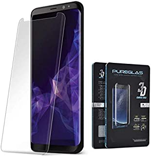 Glass Screen Protector 3D Curved Edge By Pureglas For Samsung Galaxy S9 Plus, Clear