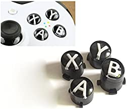 A B X Y Buttons Letters Mod Menu Button for Xbox One S Slim Elite Controller (White)