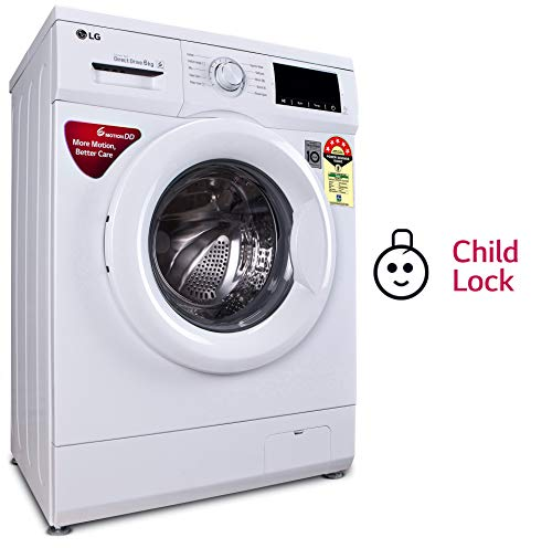 LG 6.0 Kg 5 Star Inverter Fully-Automatic Front Loading Washing Machine (FHM1006ADW, White, Direct Drive Technology)