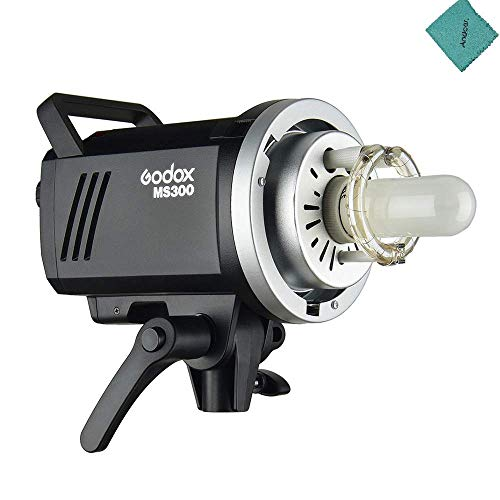 Godox MS300 Studio Flash Strobe Light Monolight 300Ws Max. Power Built-in Godox 2.4G Wireless X System GN58 5600K with 150W Modeling Lamp Bowens Mount for Indoor Studio Photography