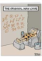 元Man Cave父の日ジョークGreeting Card 1 Jumbo Father's Day Card & Enve. (J0259)