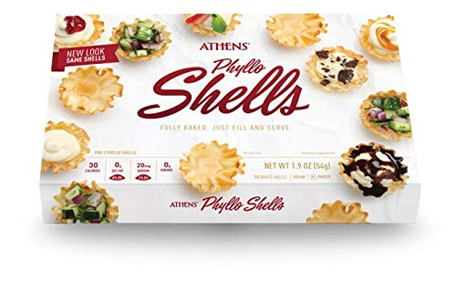 Athens Foods Mini Fillo Dough Shells 15 Per Box (3 Boxes) by Athens Foods