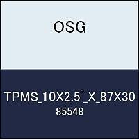 OSG テーパーエンドミル TPMS_10X2.5゚_X_87X30 商品番号 85548