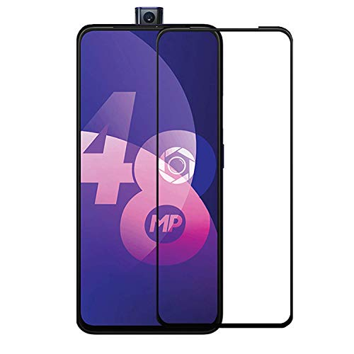 NishTech new Crystal clear 3D Full Glue Edge to Edge Tempered Glass Screen Protector with Installation Kit for Oppo F11 pro (2019)