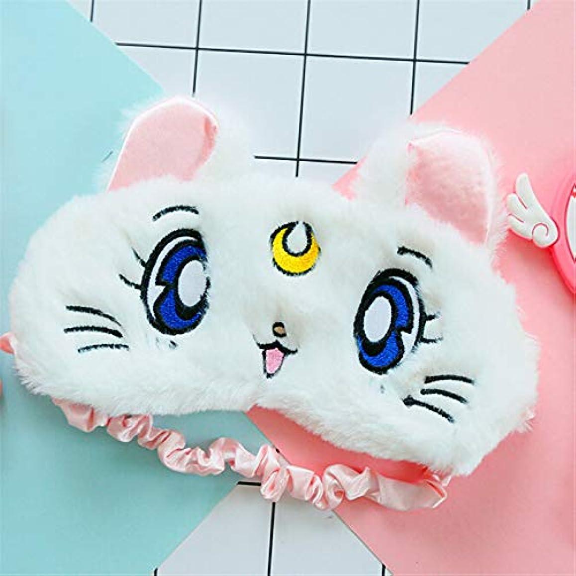 NOTE 旅行休息快適でかわいいアイマスクのための休息と睡眠猫パターンヘルスケアをシールドするためのライトアイシェード疲労を和らげる