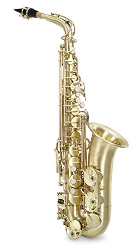 Classic Cantabile Winds AS-450 Es brushed Altsaxophon (Alt-Saxophon, gebürstetes Messing, Es-Stimmung, Hoch-Fis-Klappe, sehr ergonomische Klappenmechanik)