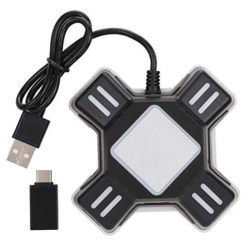 W-HUAJIA Convertidor de Teclado de ratón, Adaptador de Teclado y Mouse para PS4 / Xbox One/Switch / PS3 Converter Console Console