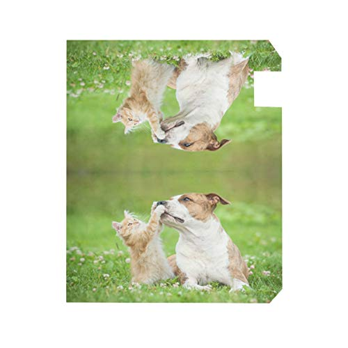 ZZKKO Kitten Cat and Dog Magnetic Mailbox Cover Wrap Post Letter Box Cover for Outside Garden Home Decor Standard Size 20.8 x 18 Inch