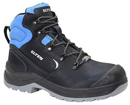 ELTEN Sicherheitsschuhe LENA blue Mid ESD S3, Damen, Lederschuh, robust, leicht, Blau, Stahlkappe - Größe 41