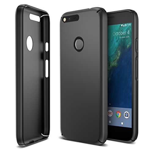 Maxboost Google Pixel Case, mSnap Thin Cases [Black] Extreme Smooth Surface with Anti-Slip Matte Coating for Excellent Grip Hard Protective PC Covers for Google Pixel 2016