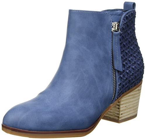 XTI 42371, Botas Cortas al Tobillo Mujer, Jeans, 38 EU