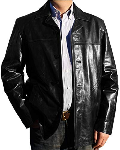 Laverapelle Men's Genuine Cowhide Leather Jacket (Black, 4XL, Polyester Lining) - 1501832