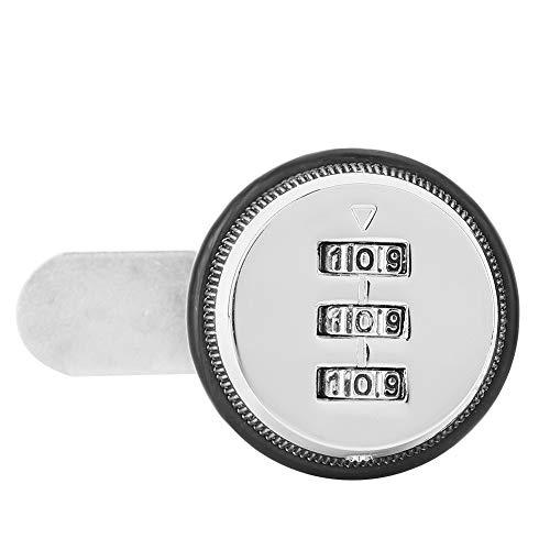 3-stellig Zink-Legierung Code Passwort Safe Lock Kombination Sicherheit Coded Lock für KabinettSchließfach Aktenschrank Briefkasten