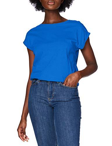 Urban Classics Damen Ladies Extended Shoulder Tee T-Shirt, brightblue, L