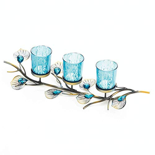 Gallery of Light Peacock Inspired Candle Trio