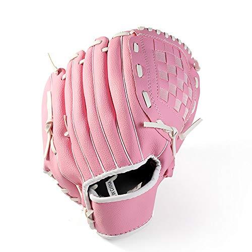 YzDnF Für Erwachsene Jugend Kinder Verdicken Infield Pitcher Baseballhandschuh Softball-Trainingshandschuhe (Color : Pink, Size : Child 10.5