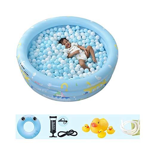 CQ Rond Opblaasbaar Zwembad, Zwembad met 3 ringen, Ocean Ball Pool, Bubble Bottom Opladen Pomp Voor 1-2 Kinderen