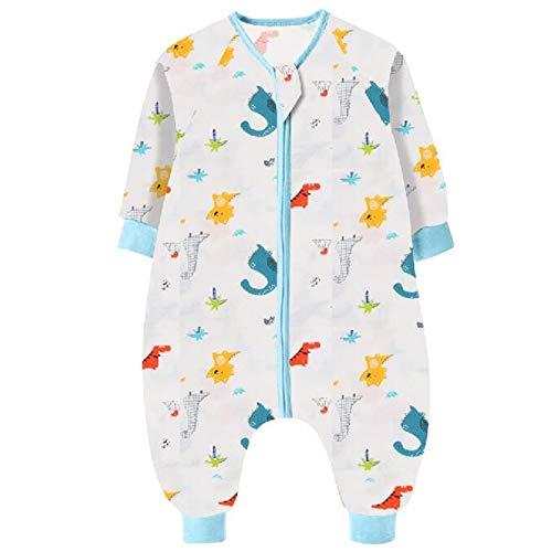 Bebé Saco de Dormir para Niños Niñas 1.5 tog, Pijamas de una pieza con Piernas Mamelucos Mono Traje de Dormir Ropa para Dormir y Batas para Bebés Mantas Envolver, Dinosaurio Azul 100CM