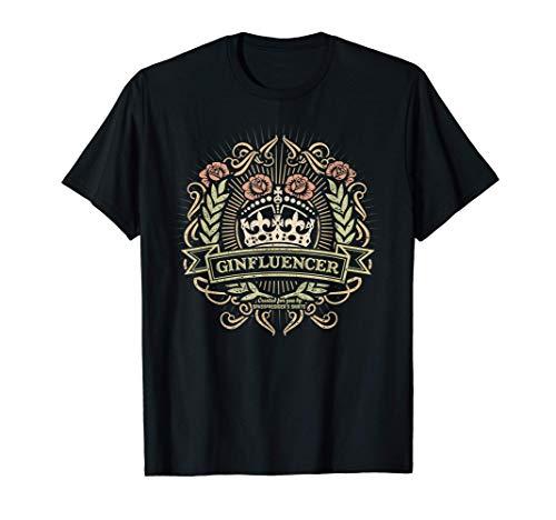 Gin Design Geschenkidee für echte Ginfluencer Gin T-Shirt