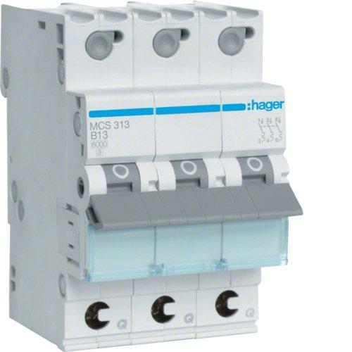 Hager MCS313 LS-Schalter 3P 6kA C-13A QC Quick Connect 1M