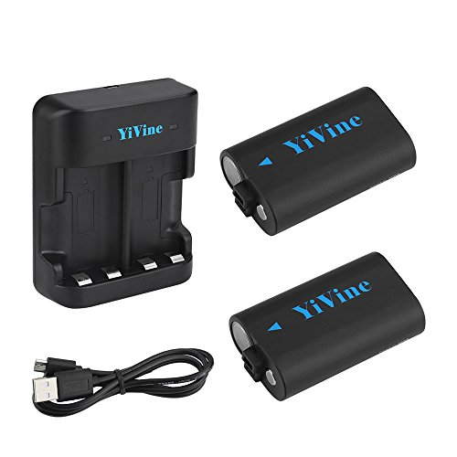YiVine 2500mAH NI-MH Battery Pack for Xbox One/Xbox One X/Xbox One S Wireless Controller with Smart...