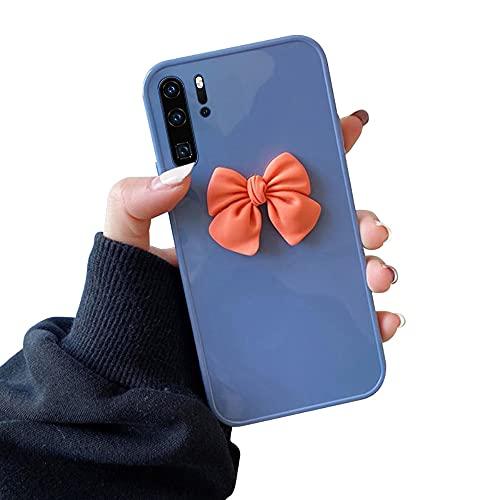 Suhctup Funda 3D Lindas Arco Compatible con Huawei Mate 40 Pro Plus,Antigolpes Bumper Elegante Color Puro Robusto Silicona Creativo Contraportada Caso Adecuado para Mujeres