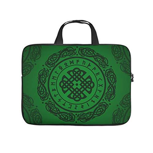 Bolsa para portátil cada día de color verde vikingo, moderna y reutilizable, bolsillos para tablet, adecuada para exteriores