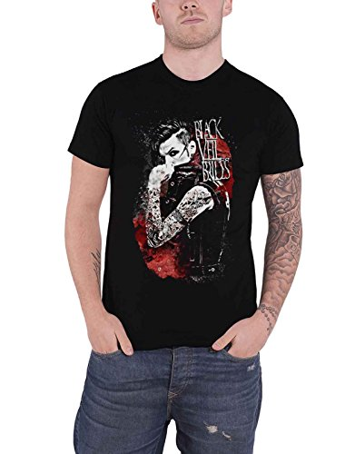 Black Veil Brides T Shirt Inferno Band Logo Nue offiziell Herren