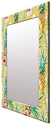 999Store Printed Yellow Fruit Leaves Pattern Mirror