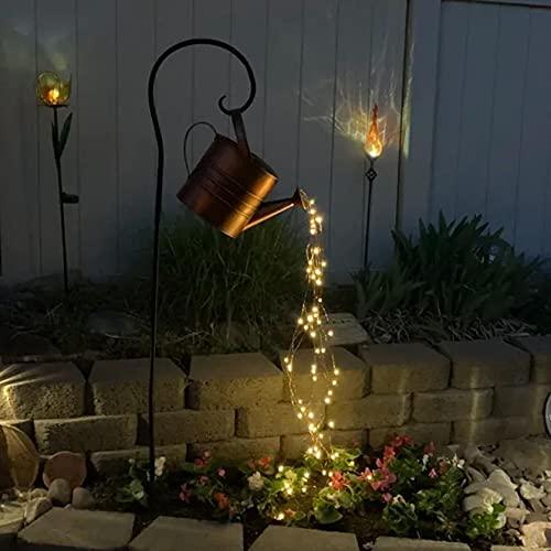 A Mit Halterung Gartendeko LED Lichterketten wasserdicht,Garten Gie/ßkanne Lichter,Stern Typ Dusche Garten Kunst Licht Dekoration Gartenarbeit Rasenlampe im Freien f/ür Zimmersdekorationen,Garten