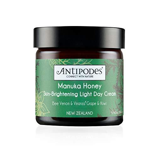 ANTIPODES Manuka Honey Skin-Brightening Light Day Cream – Anti Blemish Moisturizer - Manuka Honey & Hyaluronic Acid Hydrating Cream –Combination, Oily & Acne Prone Skin – 60ml, 2 fl. oz