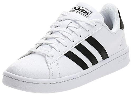 Adidas Grand Court, Damen Hallenschuhe, Weiß (Ftwbla/Negbás/Ftwbla 000), 37 1/3 EU (4.5 UK)