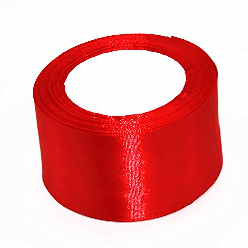 Model Worker 2' Wide Red Solid Satin Ribbon 25 Yards