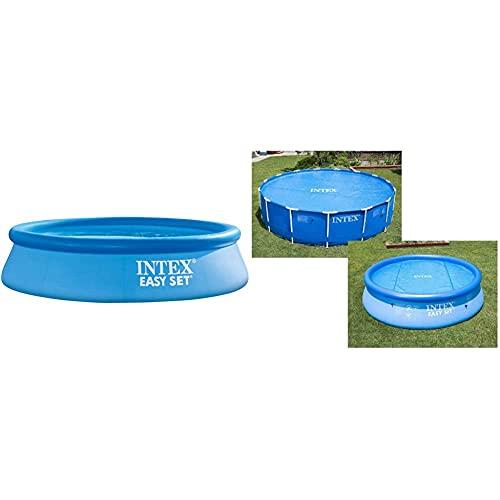 Intex 56920 Piscina Hinchable Easy Set 3853 L Sin Depuradora + 29021 Cobertor Solar para Piscinas 305 Cm De Diámetro