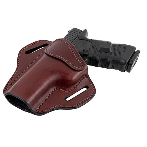 Relentless Tactical Ultimate Leather Holster 2 Slot OWB   Made in USA   for Glock 17 19 22 26 32 33 / S&W M&P Shield / Springfield XD & XDS / Plus All Similar Sized Handguns