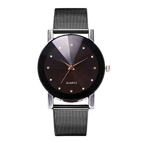 Förderung Damen Einzigartige Quartz Armbanduhr, LEEDY Frauen Classic Mode Uhr mit Edelstahl Damenuhr Analog Ultradünne Uhren Geschenk 2019 Neuer Trend
