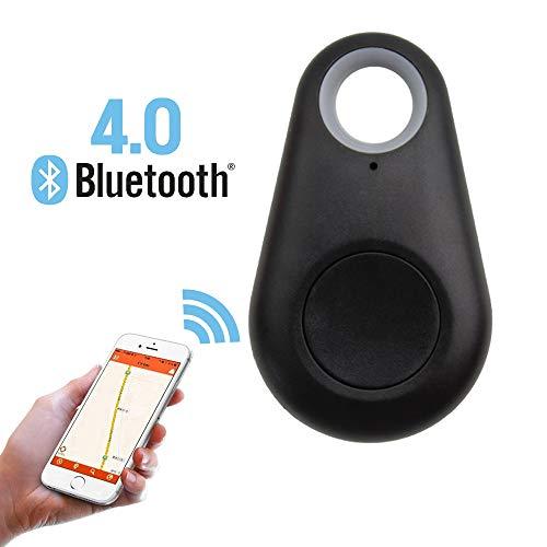RainBabee Locator Finder Schlüsselfinder Mini GPS Tracker 4.0 Anti-Diebstahl Bluetooth ABS Tracer Schlüsselfinder mit Free App für Schlüssel Brieftasche Tasche Haustiere Kinder