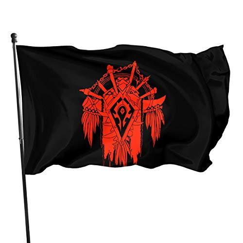 World of Warcraft for The Horde Fahnen/Flagge/Gartenfahne/Dekorativer-Verf¨¹gbar In Allen Jahreszeiten?90 X 150 cm?.