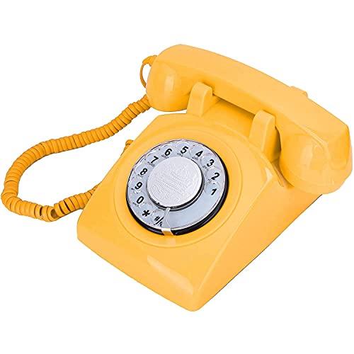 Teléfono Retro de Escritorio, Teléfono Rotary Teléfono Línea fija Línea fija Teléfono Dial Retro Vintage Decoración para Oficina Inicio