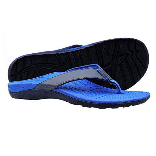 Orthotic Flip Flops Men's Sandals with Comfort Arch Support for Plantar Fasciitis & Flat Feet (Walking Essential)